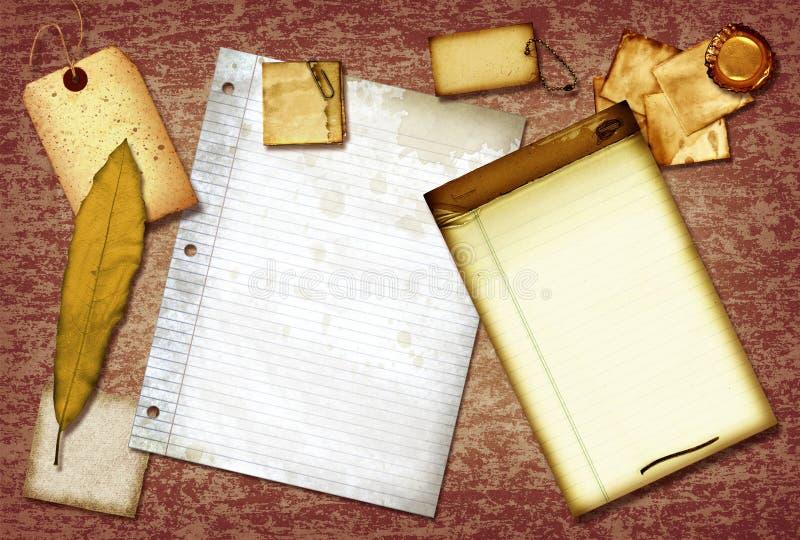 Download Vintage scrap paper stock illustration. Image of rice - 11393160