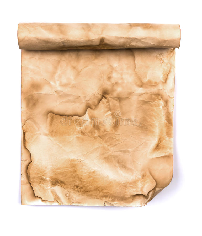 Antique Scroll Paper: Vintage Scroll Paper Stock Photo. Image Of Crumpled, Burnt