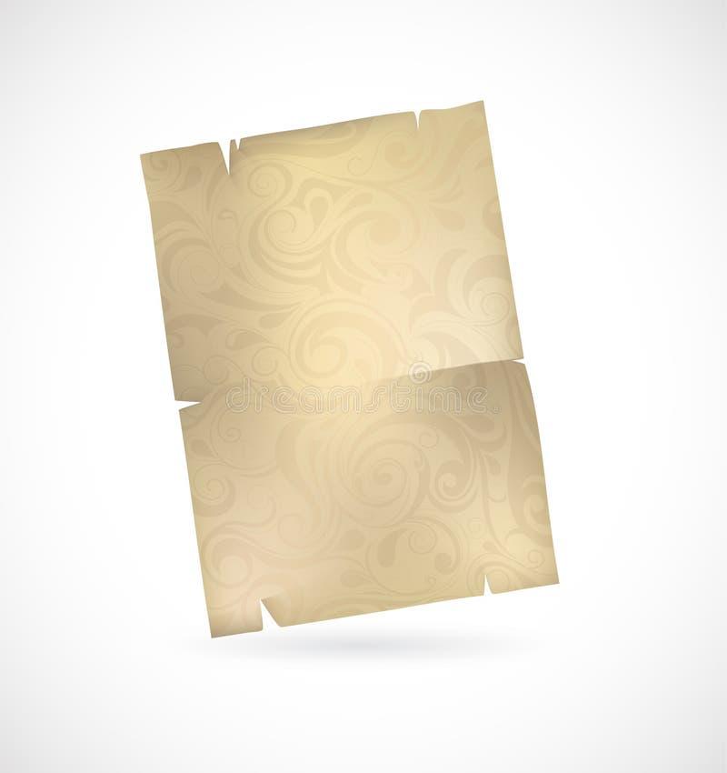 Download Vintage scroll stock illustration. Illustration of document - 34771178