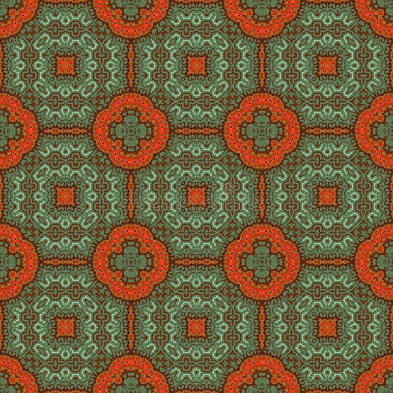 Vintage seamless background with geometrical floral design vector illustration