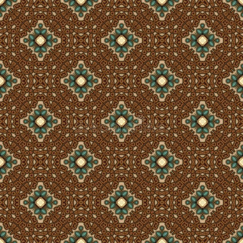 Vintage seamless background with geometrical floral design royalty free illustration