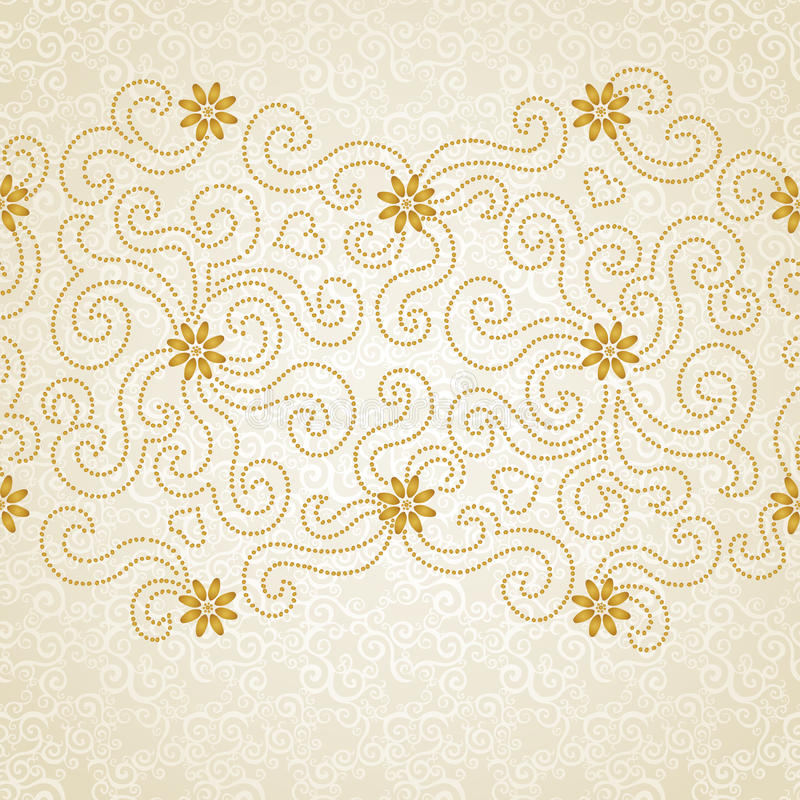 Vintage seamless border with lacy ornament. vector illustration