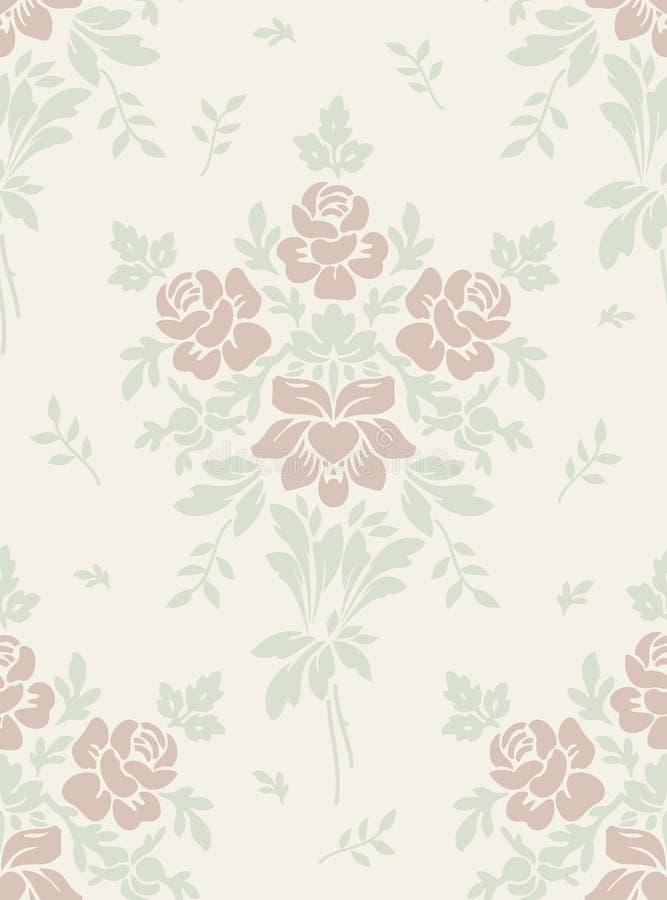 Vintage seamless floral background stock illustration
