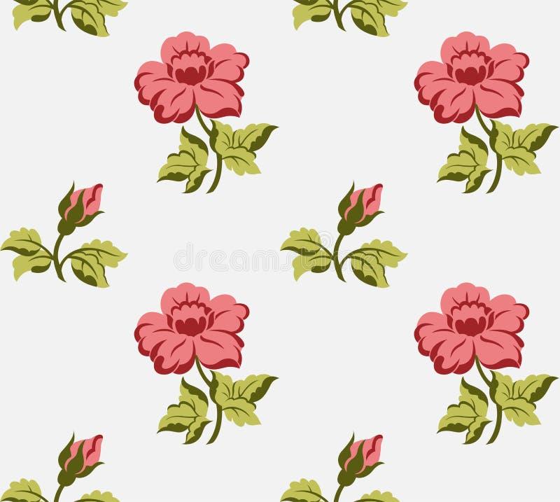 Vintage Seamless floral background vector illustration