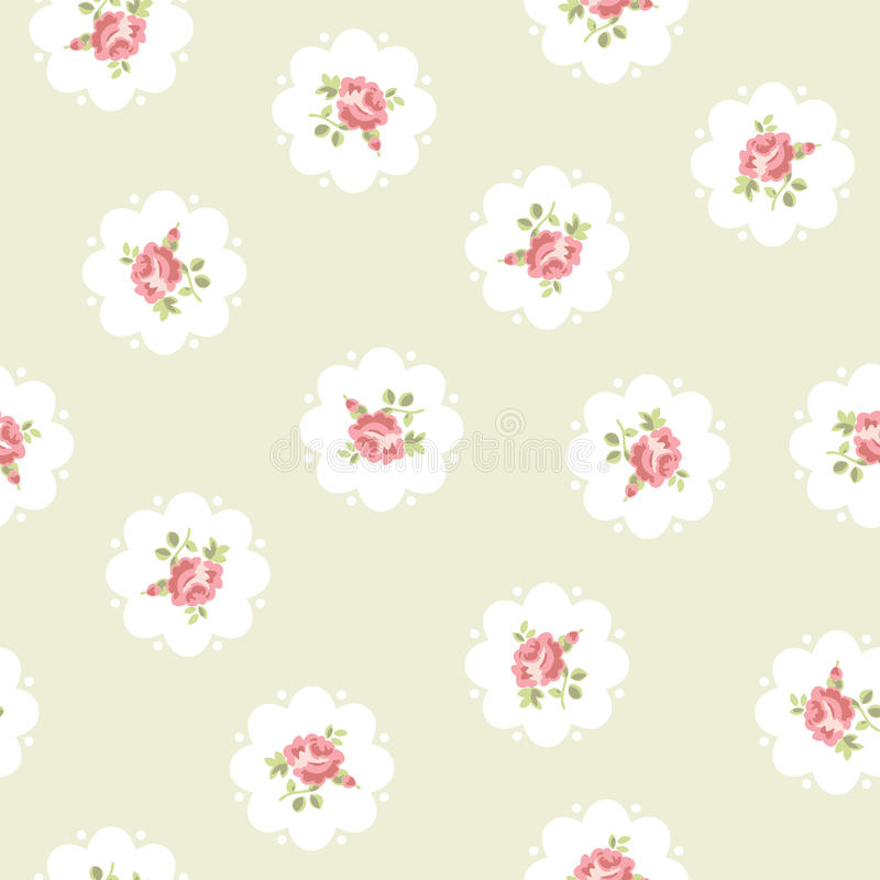 Vintage seamless floral pattern stock illustration