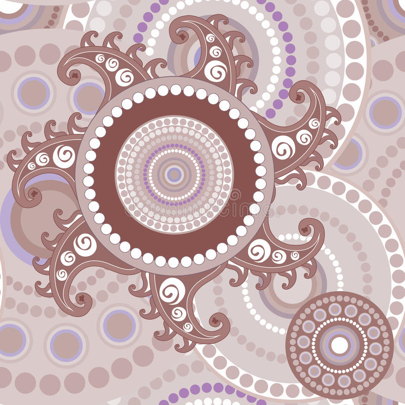 Vintage seamless paisley abstract texture stock photo