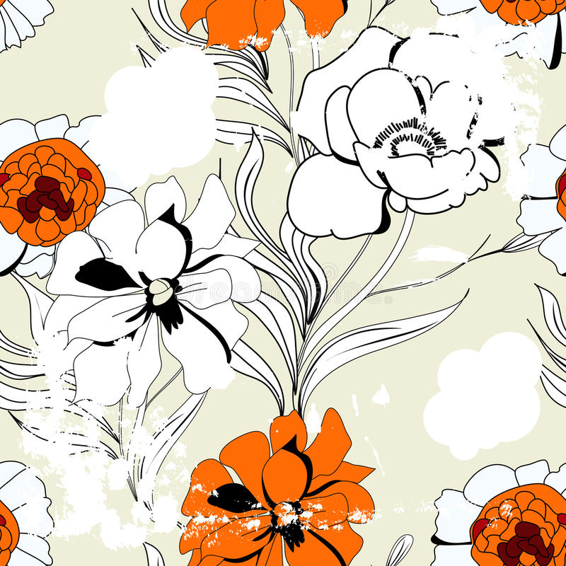 Download Vintage seamless pattern stock vector. Image of floral - 13800583