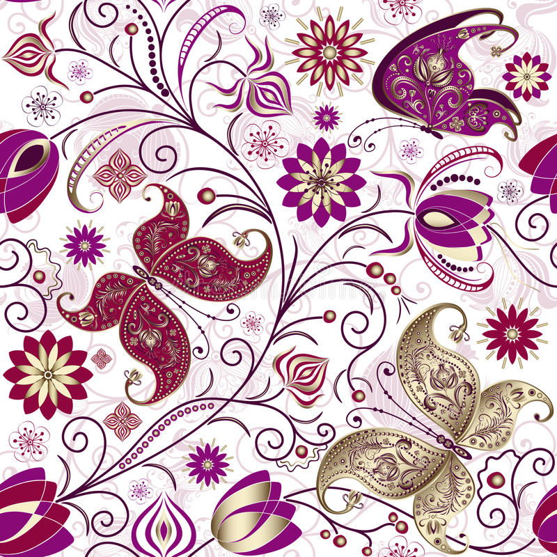 Download Vintage seamless pattern stock vector. Image of pattern - 23929752