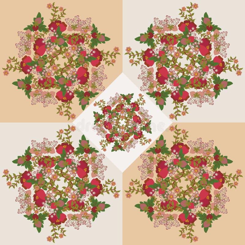 Download Vintage Seamless Pattern  On Beige Background -illustration Stock Vector - Illustration: 43238334