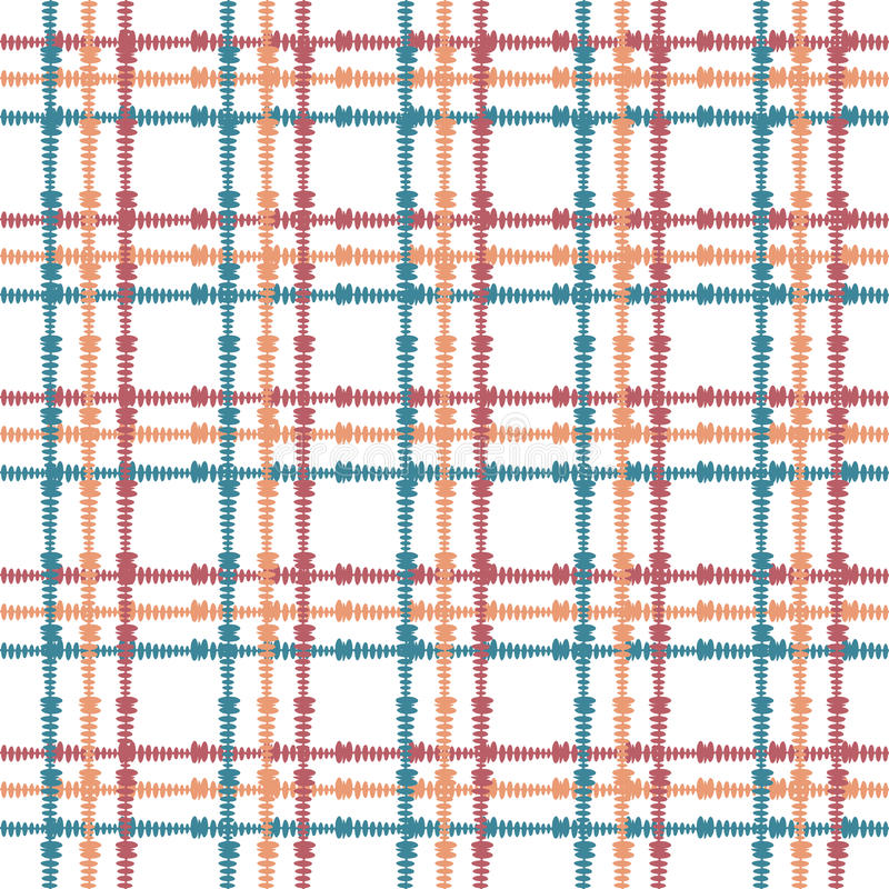Vintage seamless pattern with crossing painted lines. Plaid texture for print, paper wallpaper, home decor, fashion royalty free illustration