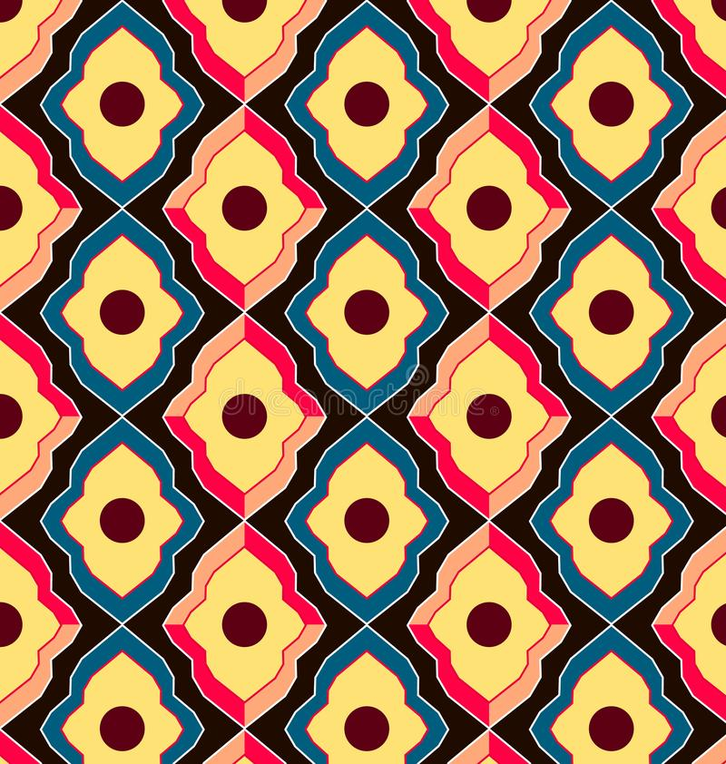 Vintage seamless pattern royalty free illustration