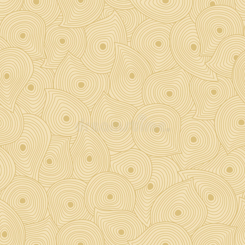 Vintage seamless texture with swirls and drops. stock illustration