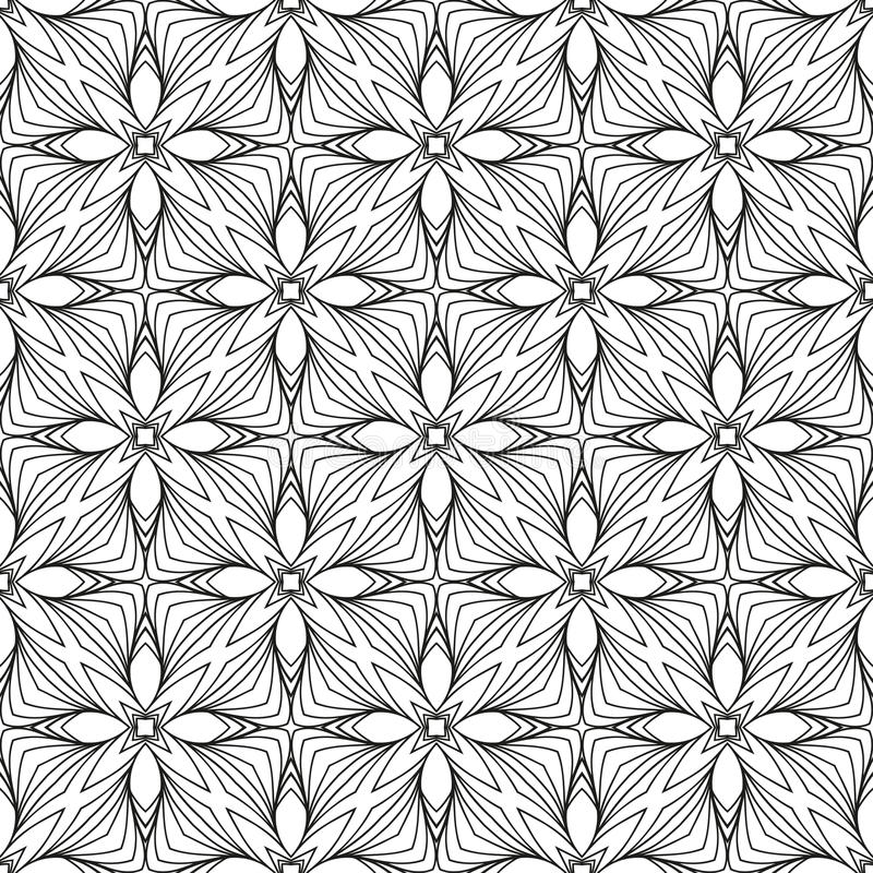 Vintage Seamless Vector Wallpaper. Vector Black White Seamless Wallpaper. Vintage Pattern. Retro Background stock illustration