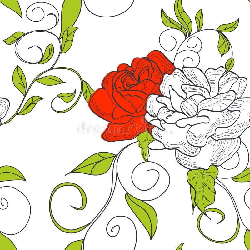 Download Vintage seamless wallpaper stock vector. Illustration of decor - 14161493
