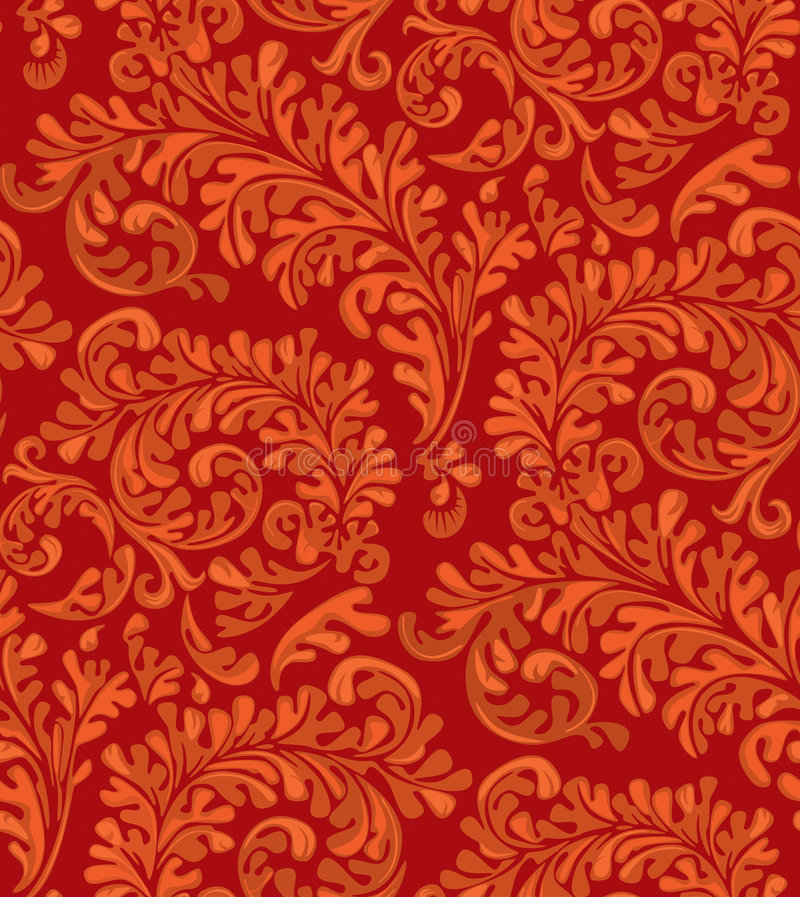 Vintage Seamless Wallpaper Pattern royalty free stock photos