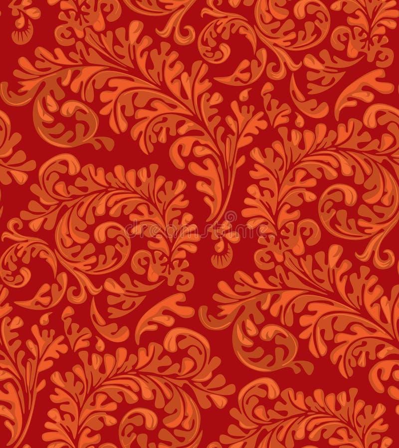 Vintage Seamless Wallpaper Pattern royalty free illustration
