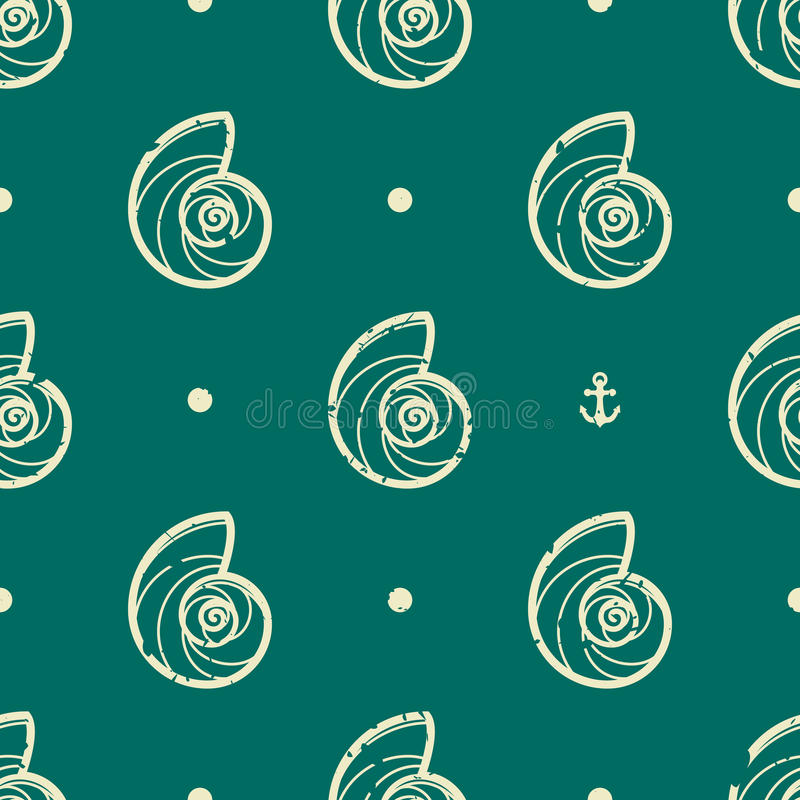 Free Vintage Seashell Pattern Stock Images - 42829614