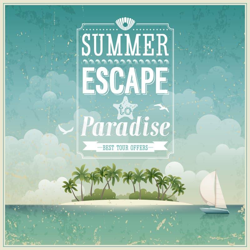 Free Vintage Seaside View Poster. Royalty Free Stock Photo - 29713805