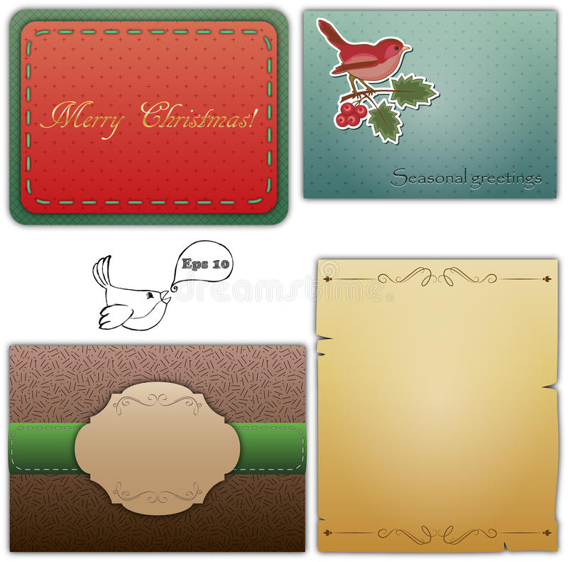 Download Vintage seasonal cards stock illustration. Image of vintage - 27180670