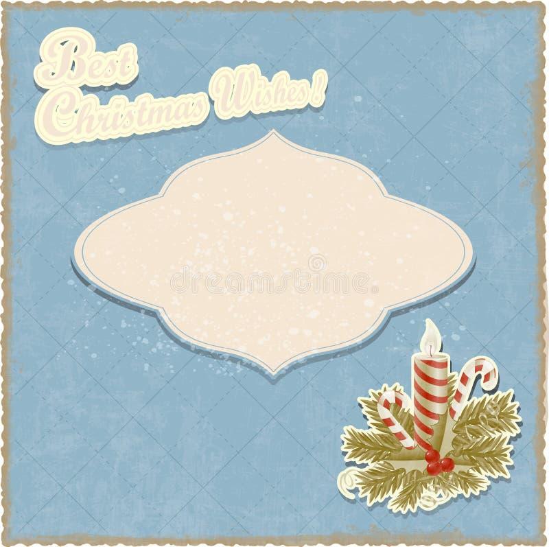 Vintage seasons greetings Christmas card