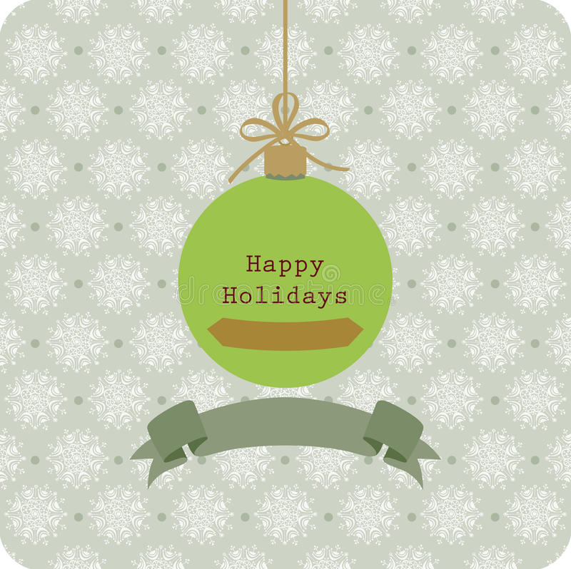 Vintage Seasons Greetings Christmas Card Royalty Free Stock Photos