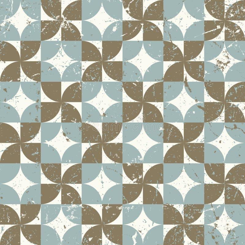 Vintage sem emenda a geometria para fora vestida monta o fundo do teste padrão ilustração do vetor