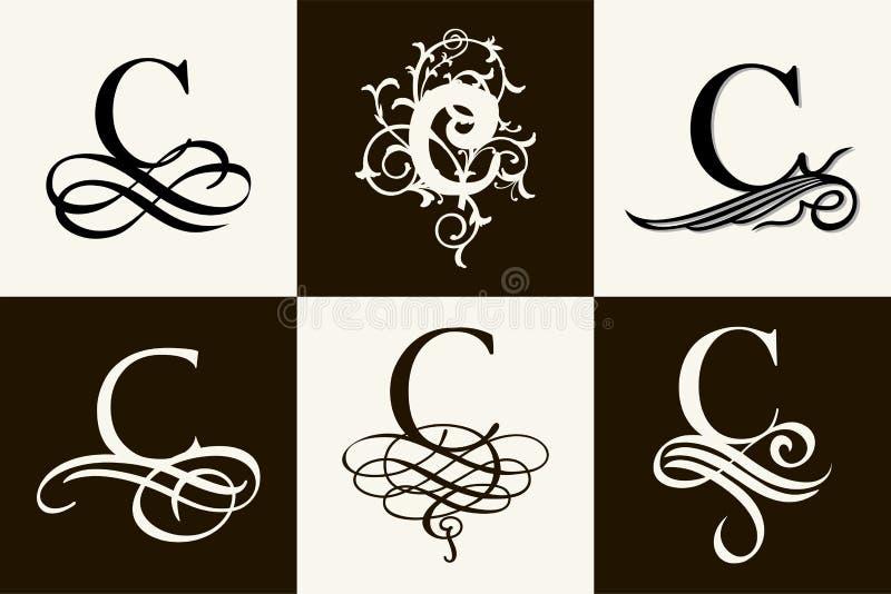Capital Letter C For Monograms And Logos Beautiful Filigree Font