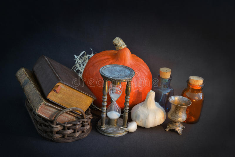 Vintage set for Halloween stock photography