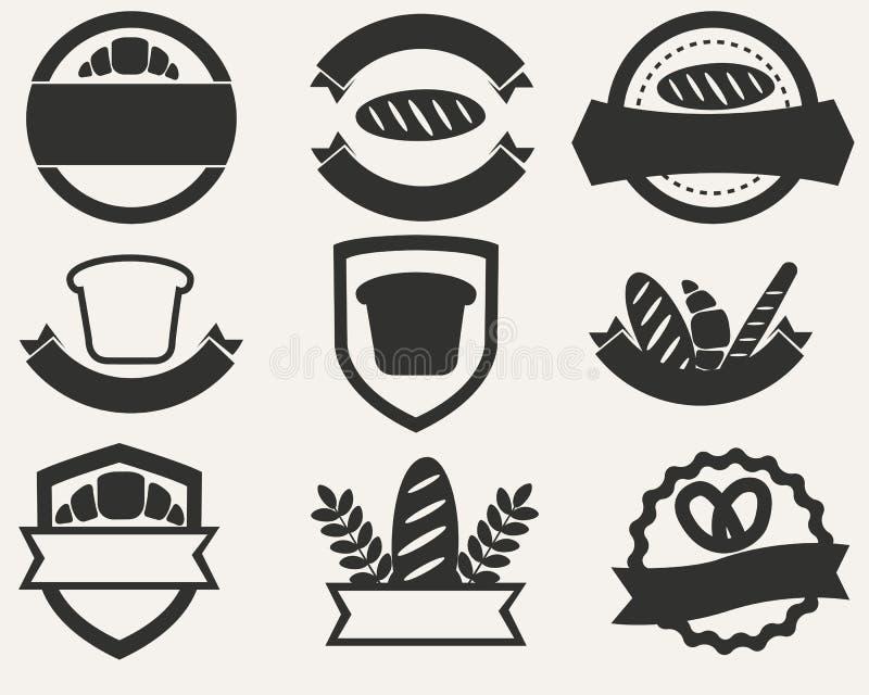 Vintage set of logos of bread and bakery. Vector illustration vector illustration