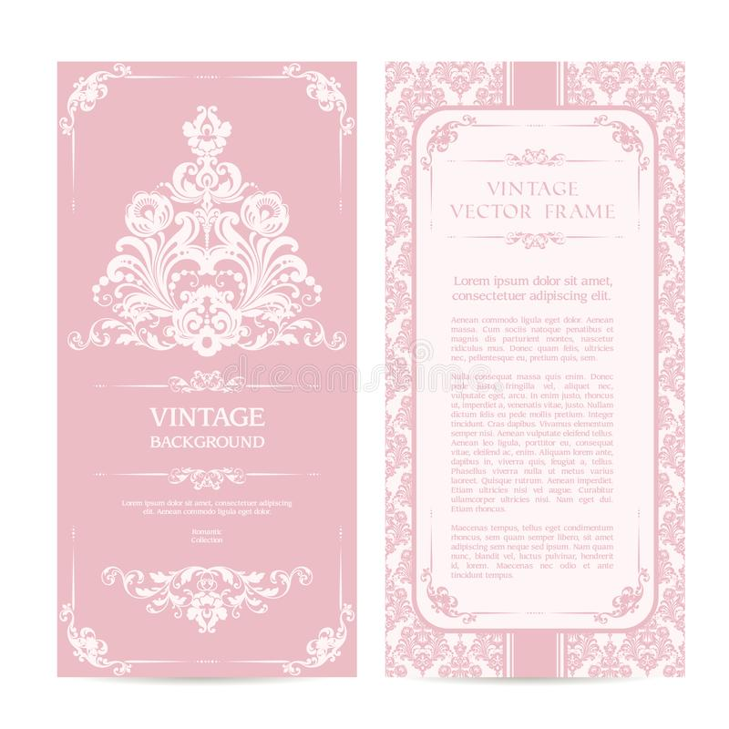 Vintage set of template ornamental borders and patterned background download vintage set of template ornamental borders and patterned background elegant lace wedding invitation design stopboris Gallery