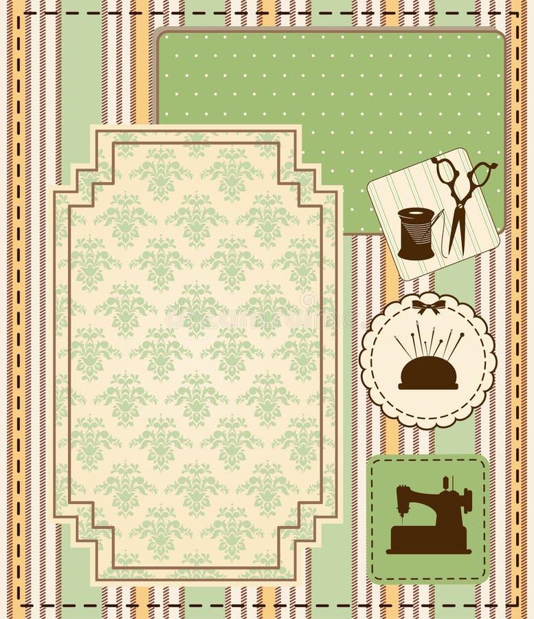 Vintage sewing elements royalty free illustration