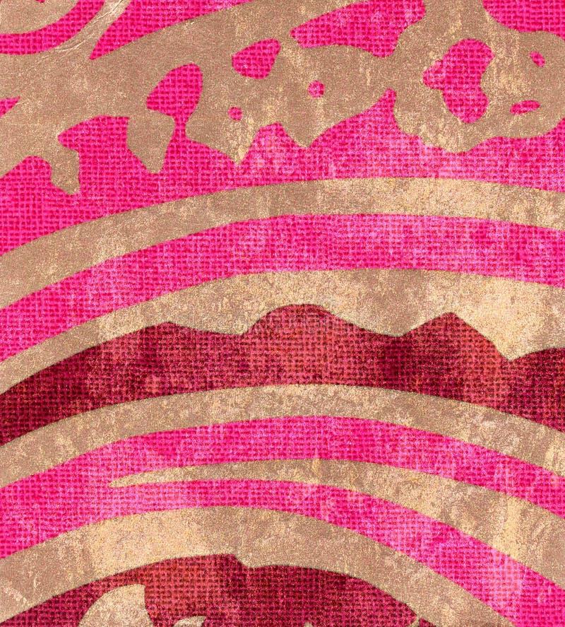 Vintage shabby background with classy patterns stock illustration