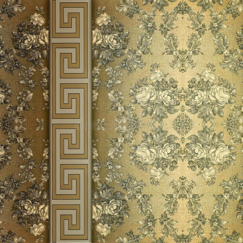 Download Vintage Shabby Background With Classy Patterns Stock Photo - Image: 17494824