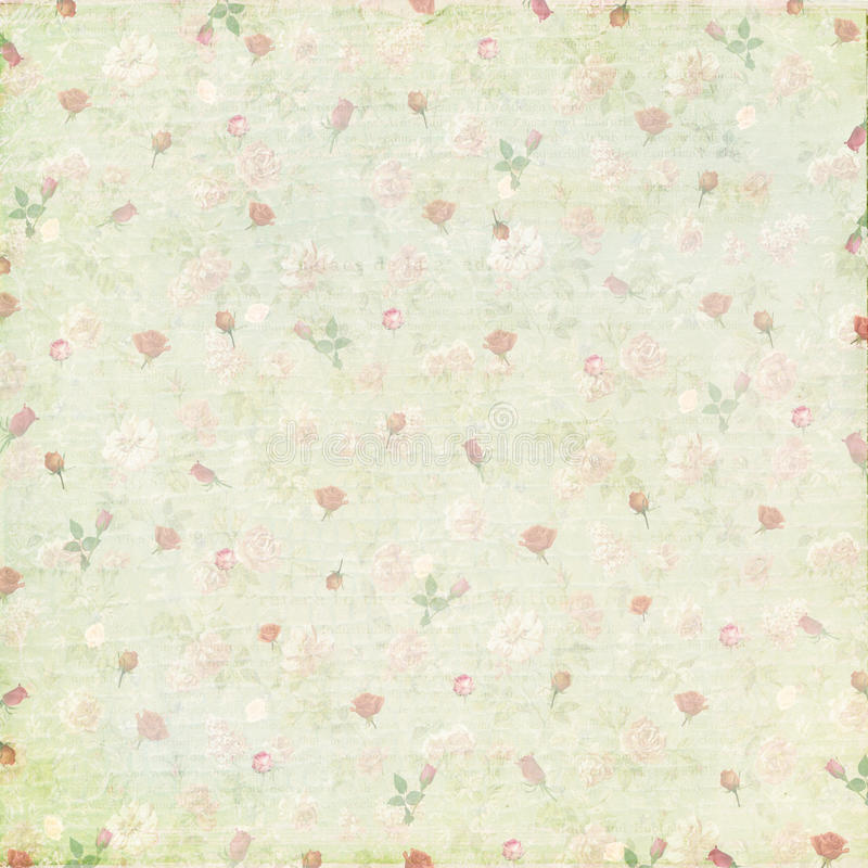 Vintage shabby rose paper background. For wedding announcements, congratulations. Template for decoration and design royalty free stock photo