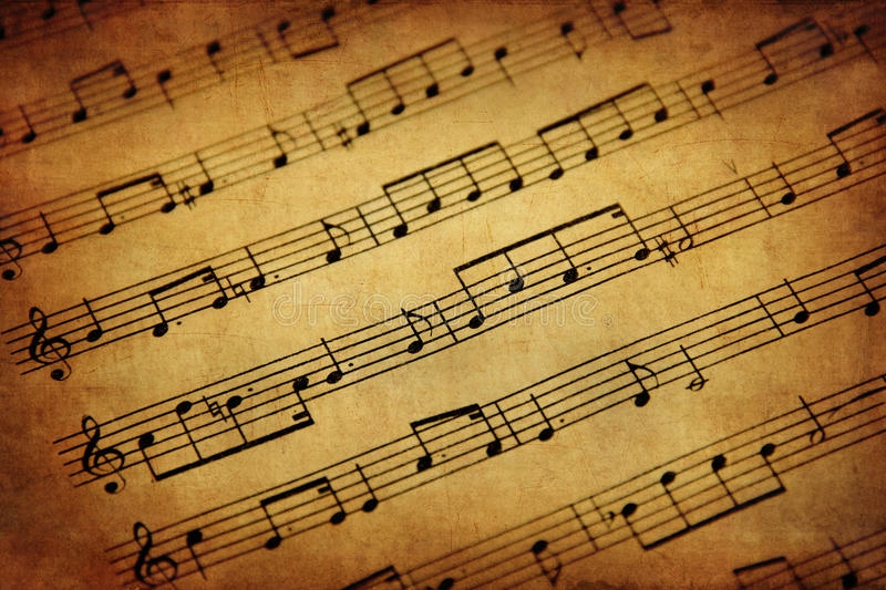 Download Vintage Sheet Music stock photo. Image of macro, hear - 28877484