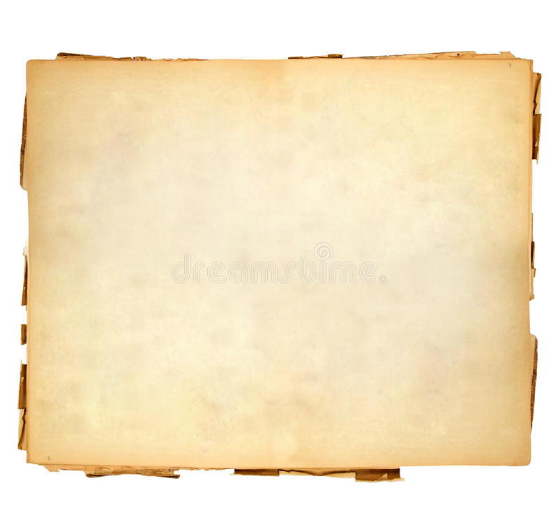Vintage sheet of paper. With soft and lukewarm shades on white background royalty free stock images