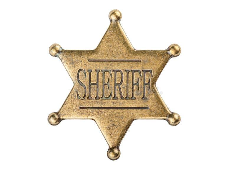 Vintage sheriff star badge stock images