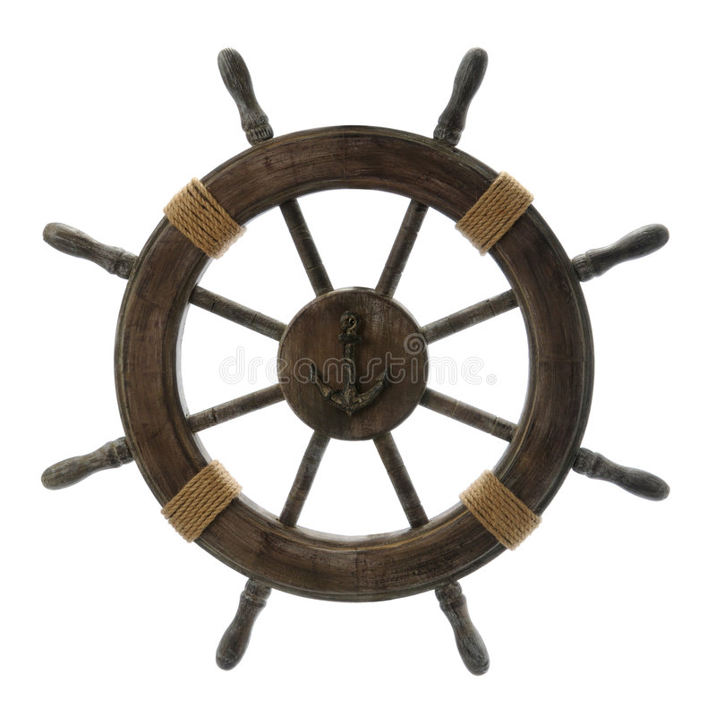Free Vintage Ship Wheel Royalty Free Stock Images - 5547259