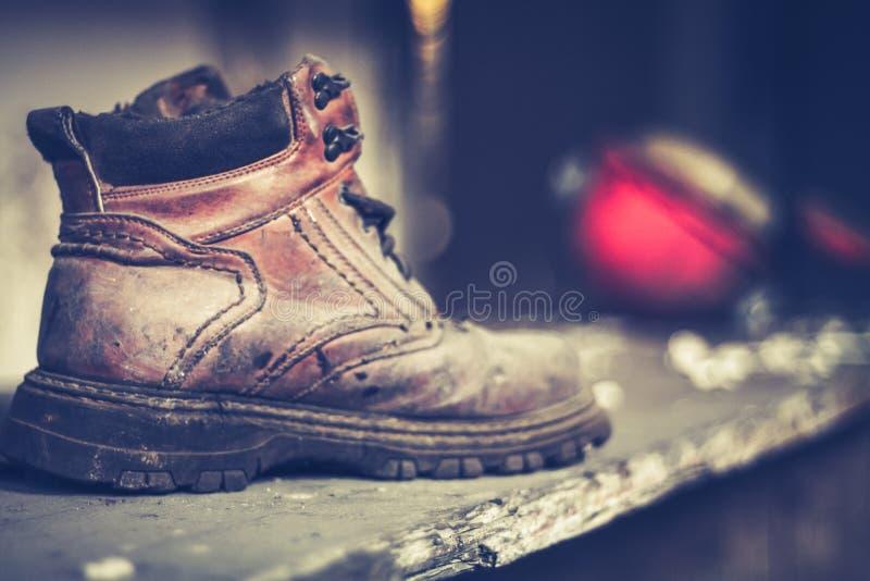 Vintage shoe abandoned stock image