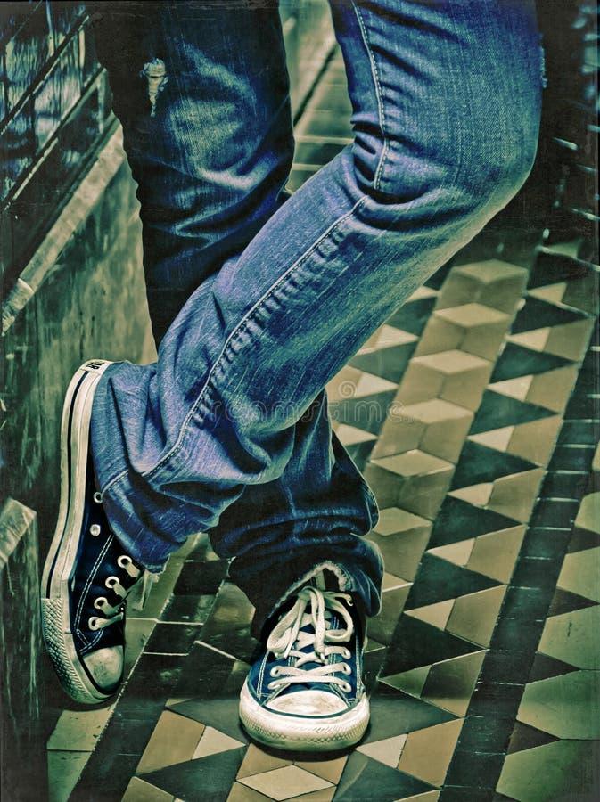 Download Vintage Shoes stock image. Image of denim, teenager, feet - 26095545