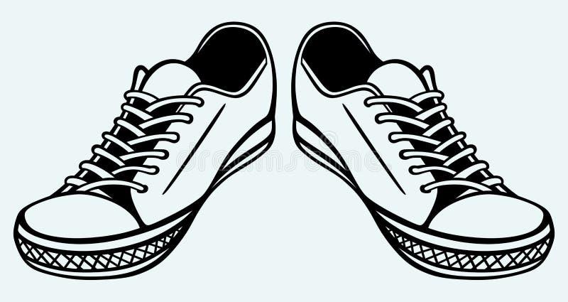 Vintage shoes stock illustration