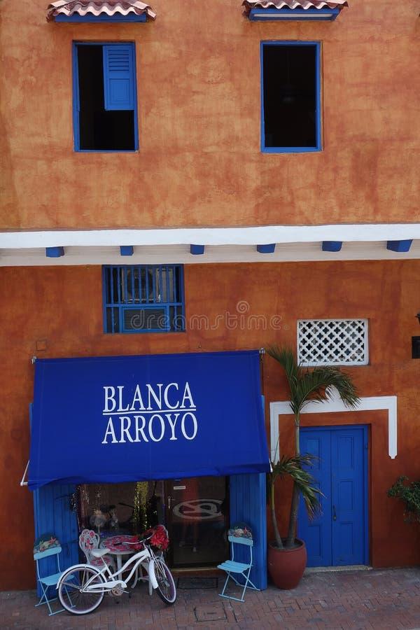 Vintage shop in Cartagena stock photo