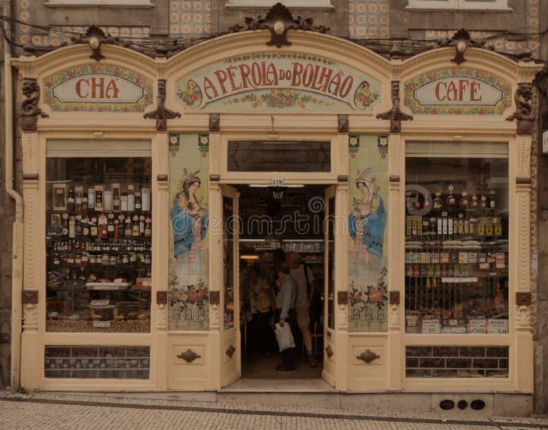 Vintage shop facade stock photos