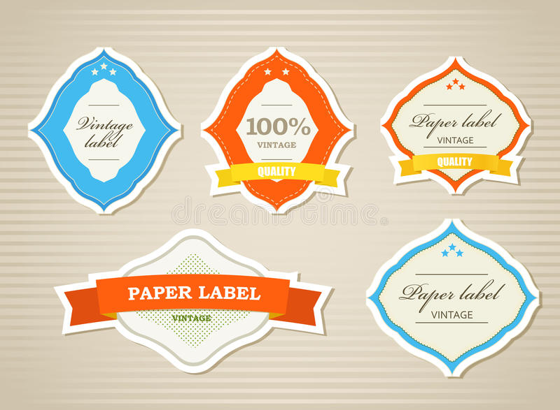 Download Vintage Shopping Labels And Logo Stock Vector - Image: 22104111