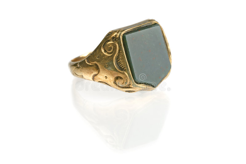 Download Vintage Signet Ring stock photo. Image of white, gold - 7351608
