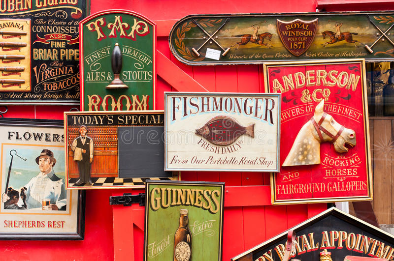 Vintage Signs stock photo