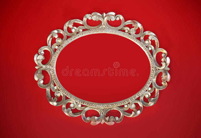 Red wall frame royalty free stock images