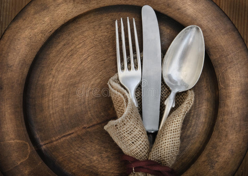 Download Vintage silverware stock photo. Image of object, plate - 26674624