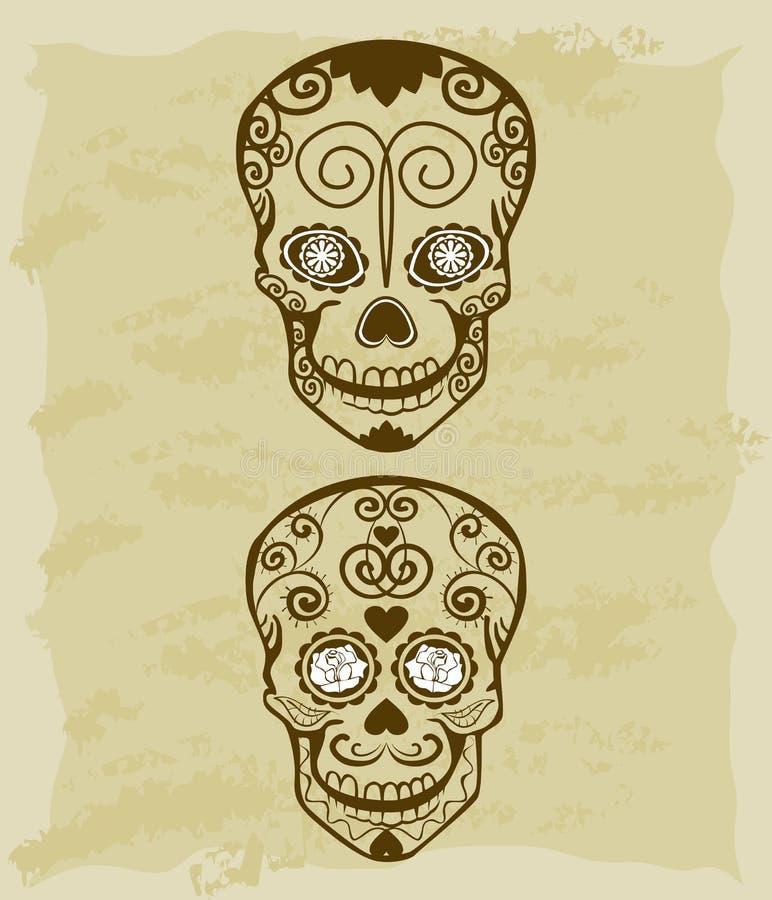 Download Vintage Sketch Of Sugar Skull Stock Illustration - Image: 28971744