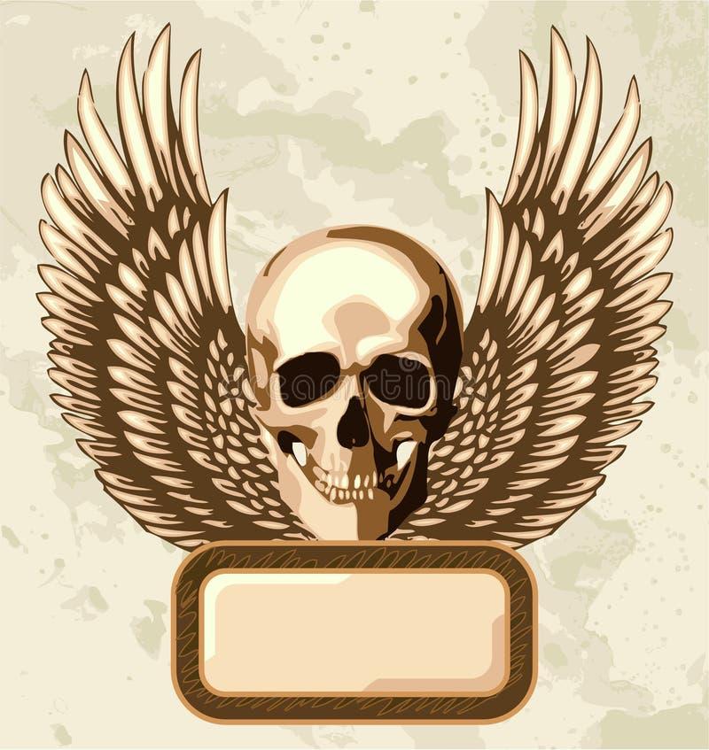 Download Vintage skull stock vector. Illustration of sign, gold - 4541715